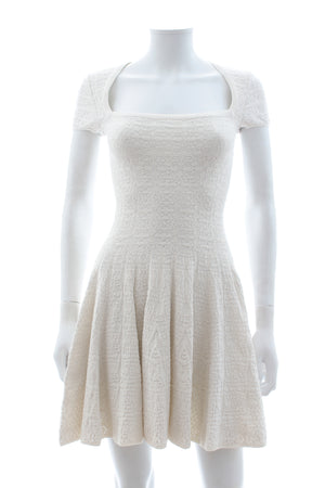 Alaïa 'Muguet' Stretch-Knit Fit and Flare Dress