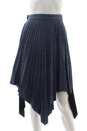 Acne Studios Islie Asymmetric Pleated Skirt