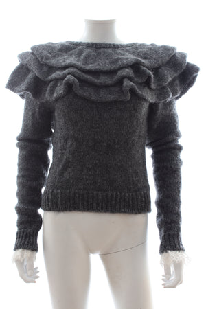 Philosophy di Lorenzo Serafini Ruffled Lace-Trimmed Sweater