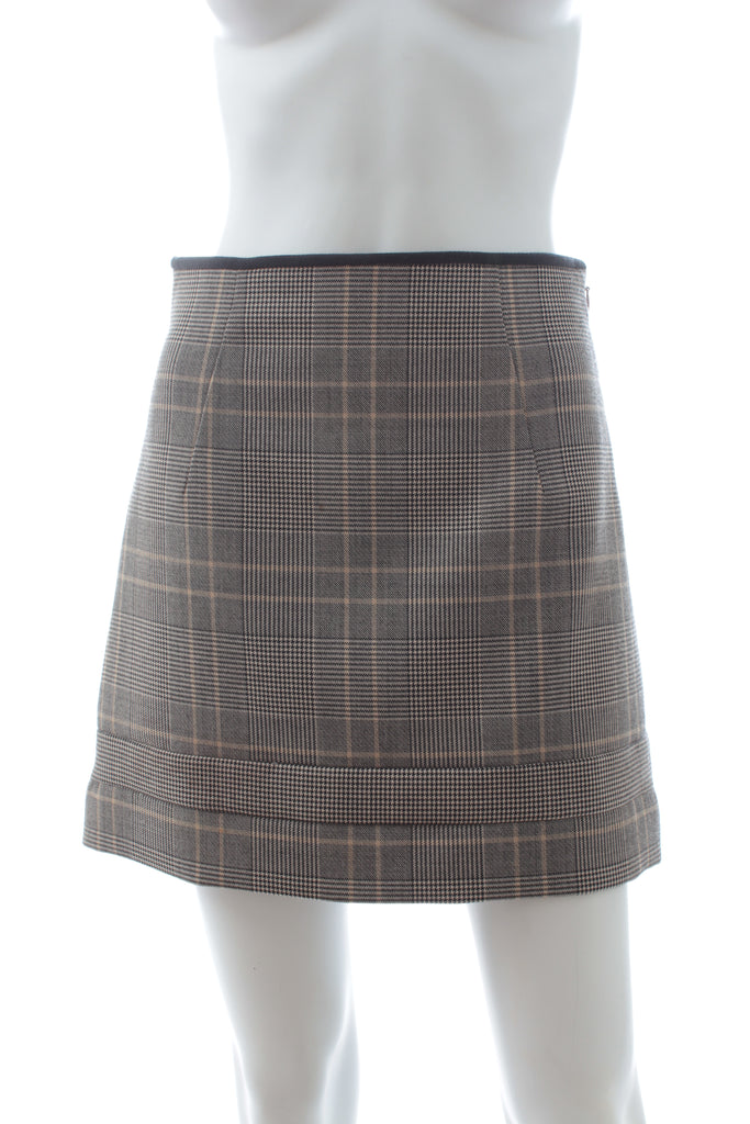Chloé Check Tailored Cropped Jacket and Mini Skirt