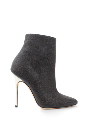 Manolo Blahnik Insopolobi 115 Two-Tone Glitter Ankle Boots