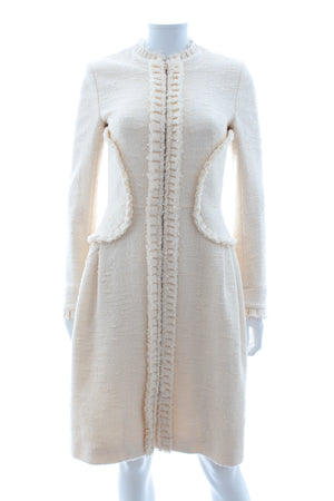 Fendi Textured Wool-Silk Blend Coat