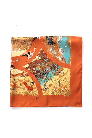 Hermes 'Tanzanie' by Robert Dallet Silk Scarf