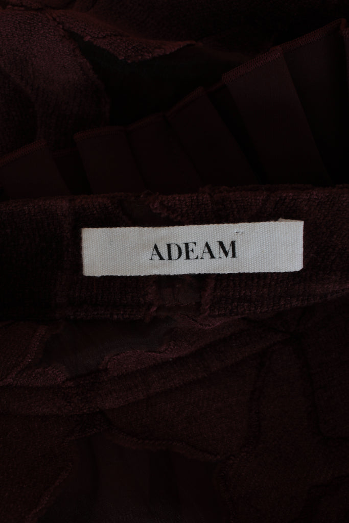Adeam Embroidered Pleated Neck Shirt