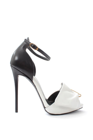 Giuseppe Zanotti Safety-Pin Monochrome Leather Sandals