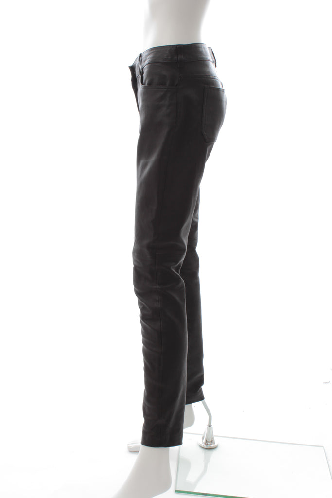 Balenciaga Stretch-Leather Trousers