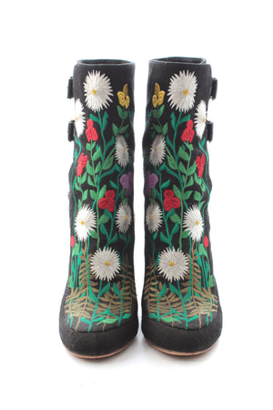 Laurence Dacade 'Merli' Floral-Embroidered Boots, Boots, Laurence Dacade, Closet Upgrade - Closet-Upgrade