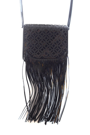 Alaïa Sac Ferme PM Crossbody Bag in Patent Arabesque Leather
