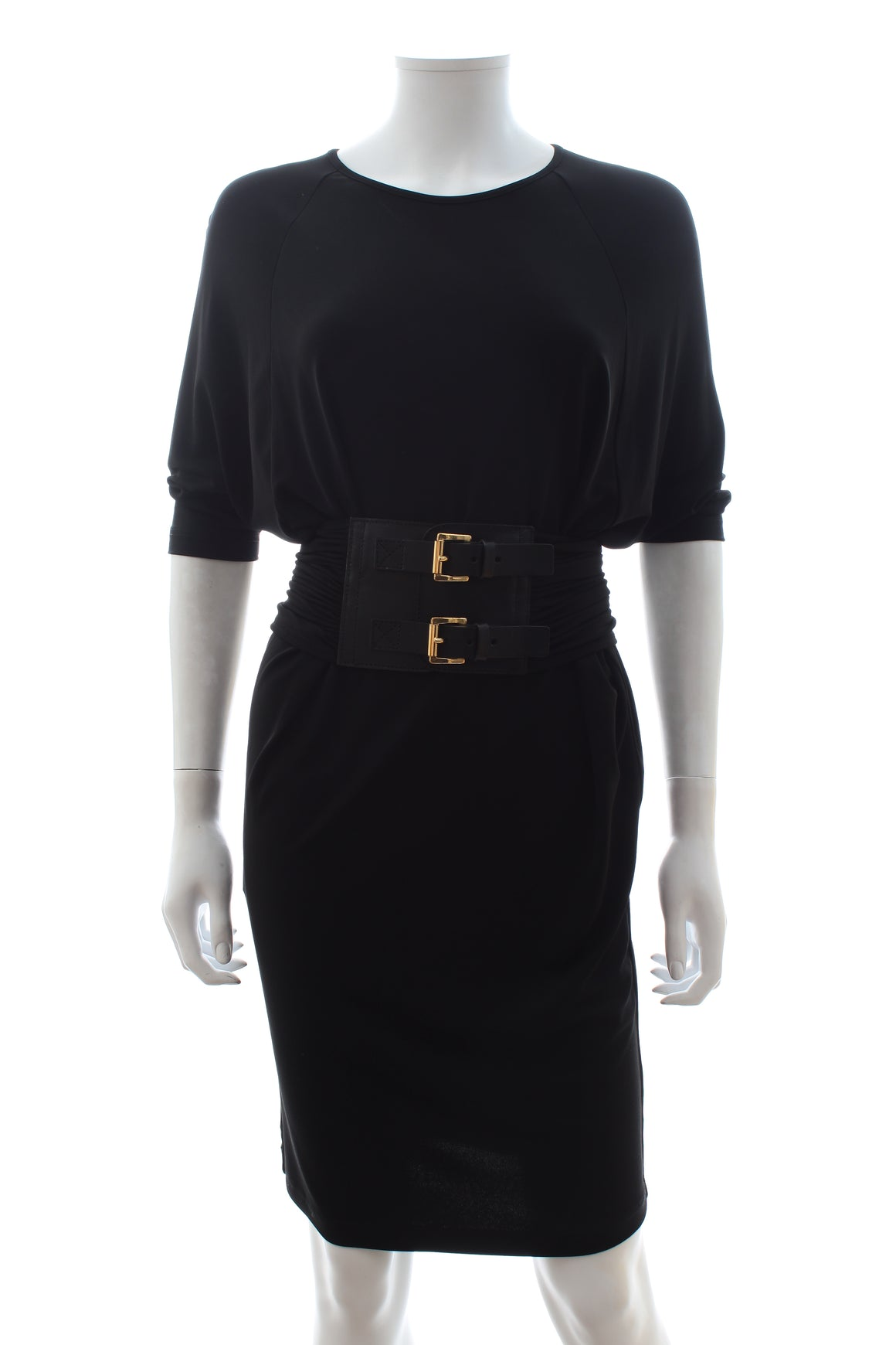 Michael Kors Collection Belted Stretch-Jersey Dress