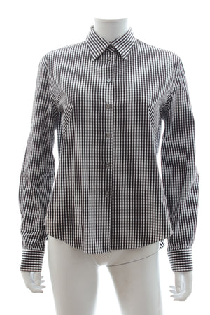 Jourden Open Back Gingham Cotton Shirt