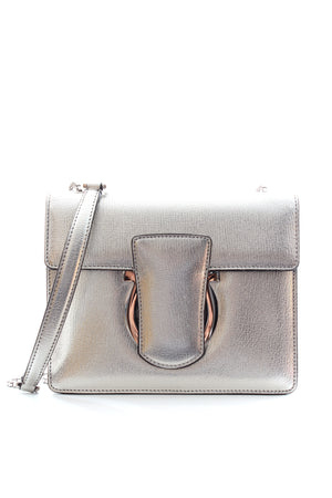 Salvatore Ferragamo Thalia Metallic Leather Shoulder Bag