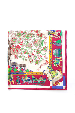 Hermes 'Fantaisies Indiennes' by Loïc Dubigeon Silk Scarf