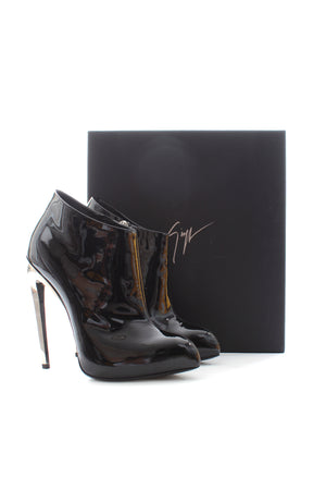 Gianvito Rossi 120 Patent Leather Ankle Boots
