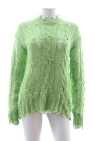 Acne Studios Kelenal Frayed Cable Knit Sweater