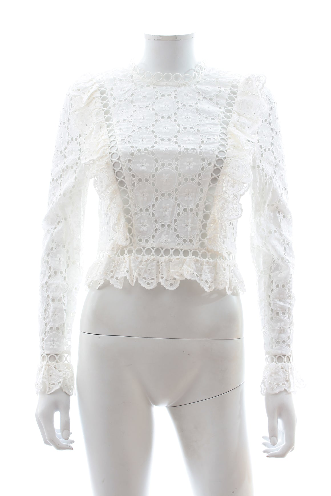 Zimmermann Divinity Broderie-Anglaise Cotton Top