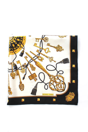 Hermes 'Les Clés' (The Keys) by Caty Latham Silk Scarf