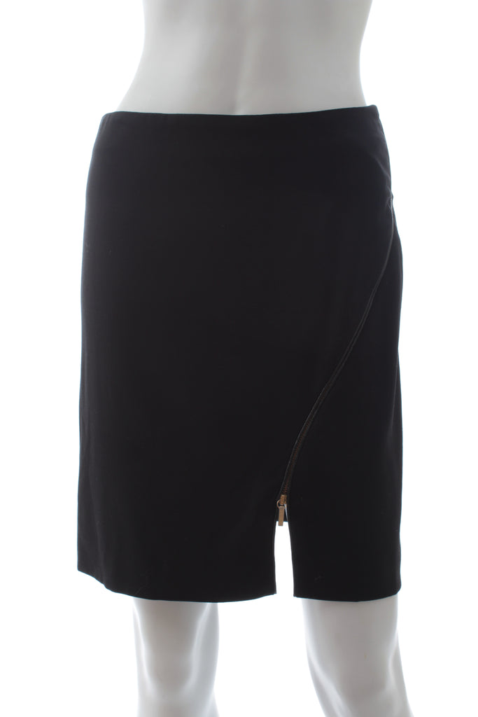 Versace Stretch-Wool Zip Skirt