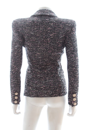 Faith Connexion Metallic Tweed Top Jacket