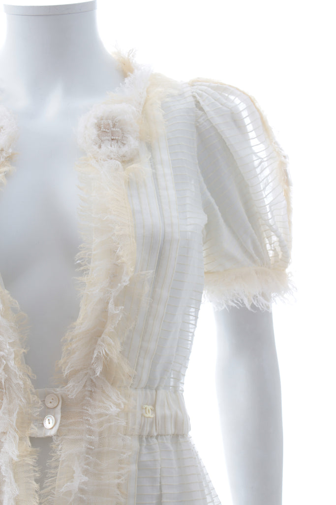 Chanel Cotton Ruffled Jacket