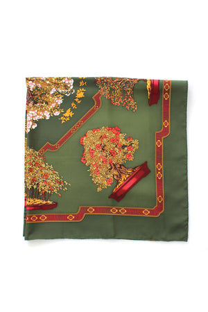 Hermes 'Bonsai' by Catherine Baschet Silk Scarf