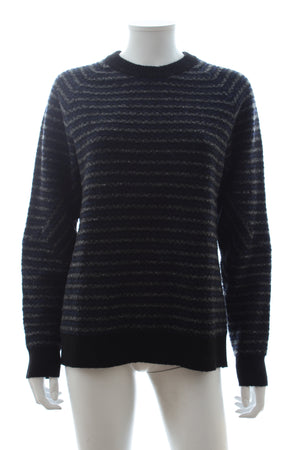 Proenza Schouler Striped Wool-Cashmere Blend Sweater
