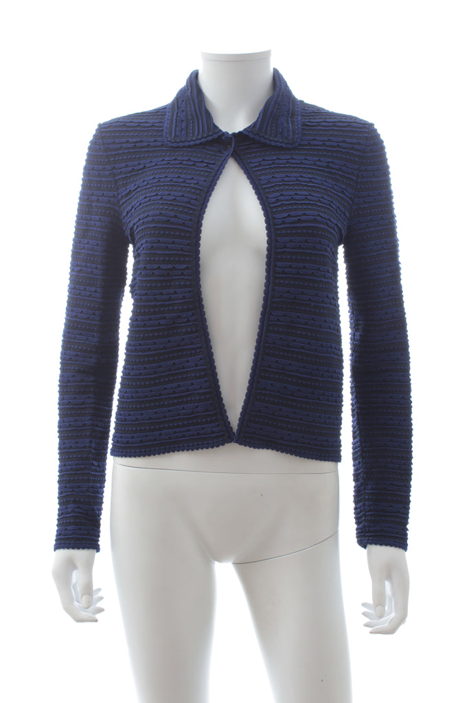 Christian Dior Scalloped Knit Cardigan