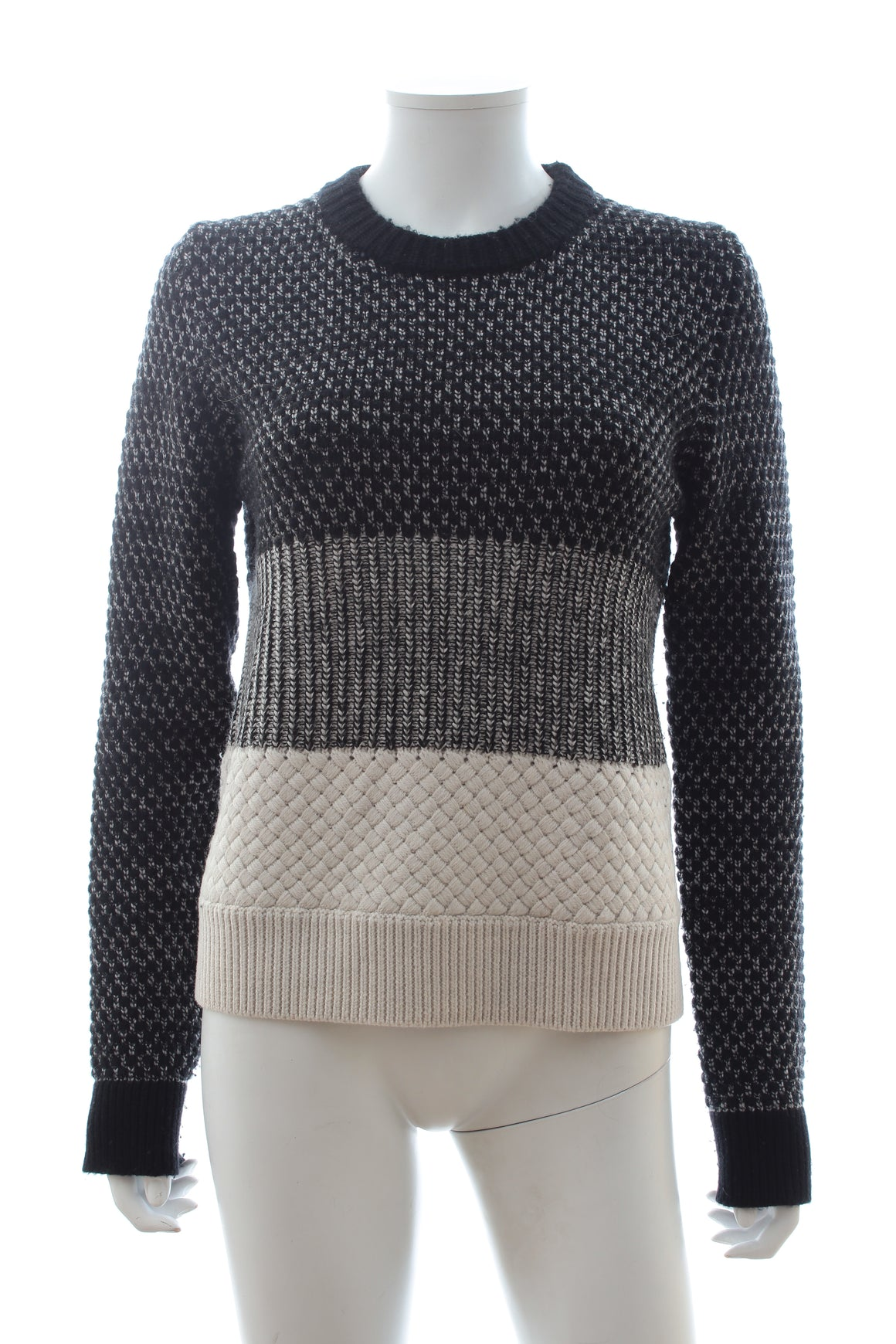 Proenza Schouler Wool, Cashmere and Silk-Blend Block Sweater