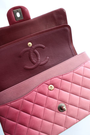 Chanel Timeless Ombré Quilted Lambskin Leather Flap Bag
