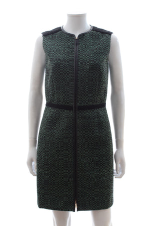 M Missoni Textured Zip-Front Sleeveless Dress