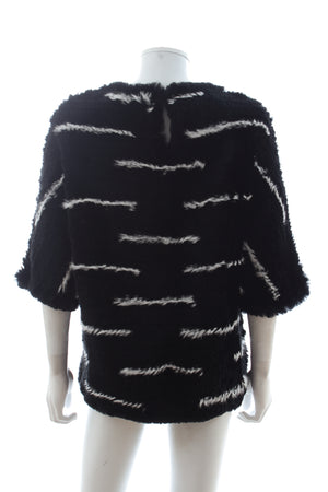 Joseph 'Bonham' Knitted Rabbit Fur Sweater