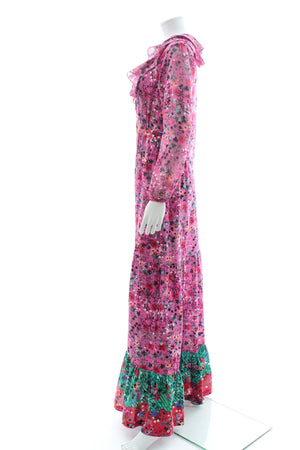 Saloni 'Ginny' Floral-Print Silk Maxi Dress