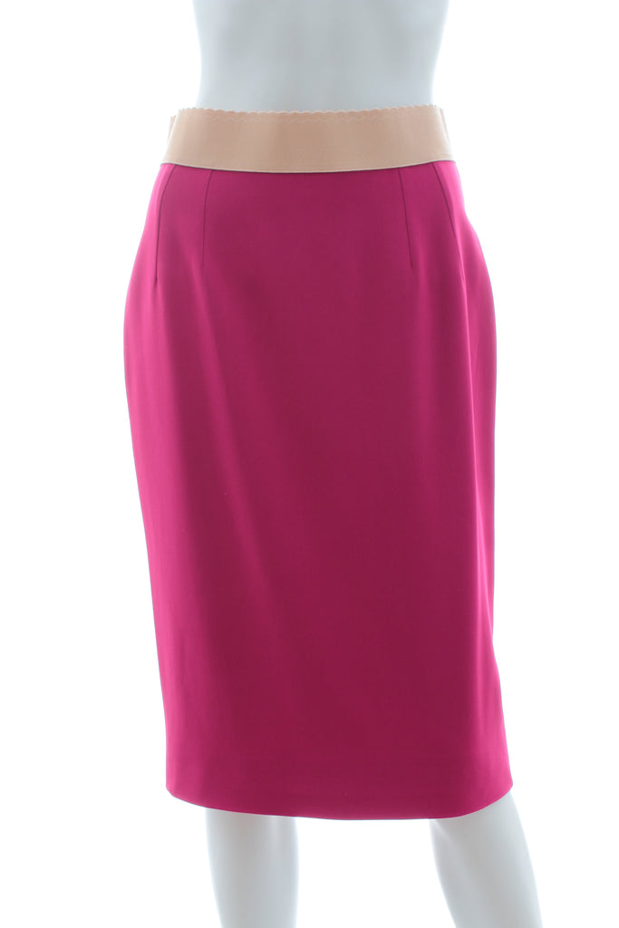Dolce & Gabbana Stretch-Crepe Pencil Skirt