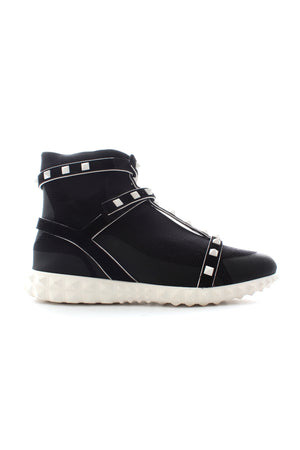 Valentino Garavani The Rockstud Bodytech Stretch-Knit Sneakers