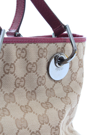 Gucci GG Canvas and Leather Tote Bag