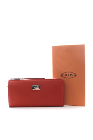 Tod's Leather Zip Around Wallet