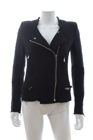 Iro 'Carlotaspe' Cotton Knit Biker Jacket