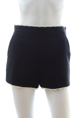 RED Valentino Scalloped Hem Shorts