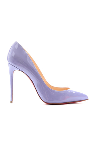 Christian Louboutin Pigalle Follies 100 Patent Hortensia Pumps