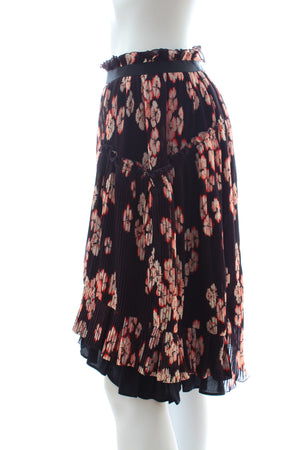 Isabel Marant Watford Floral Pleated Skirt - Runway Collection