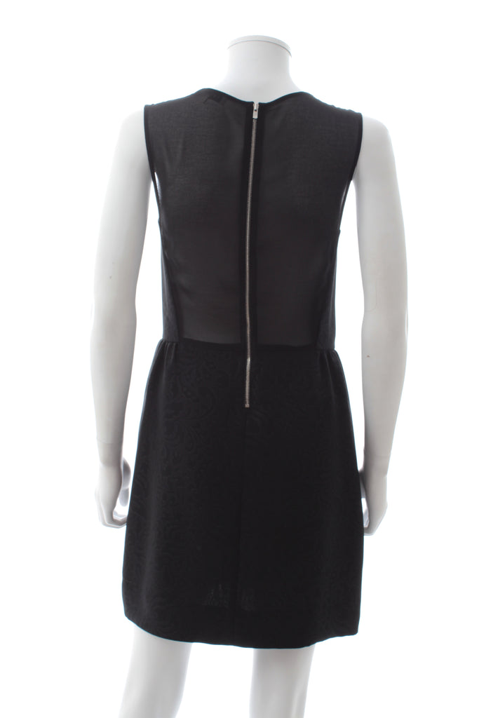 Sandro Sleeveless Jacquard Dress