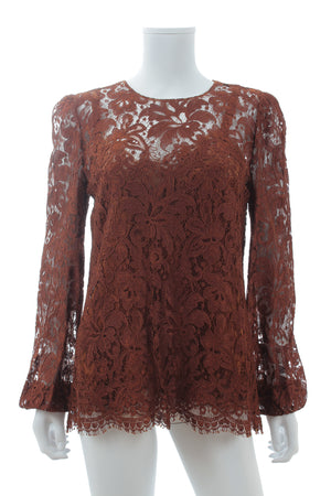Dolce & Gabbana Long Sleeved Lace Top