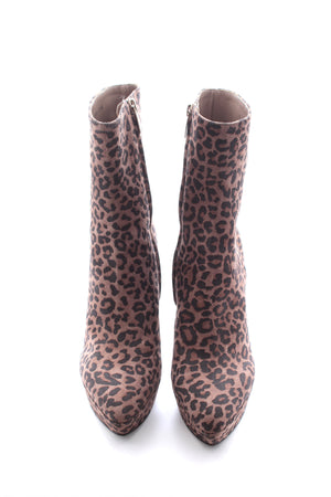 Sergio Rossi Leopard Print Ankle Boots