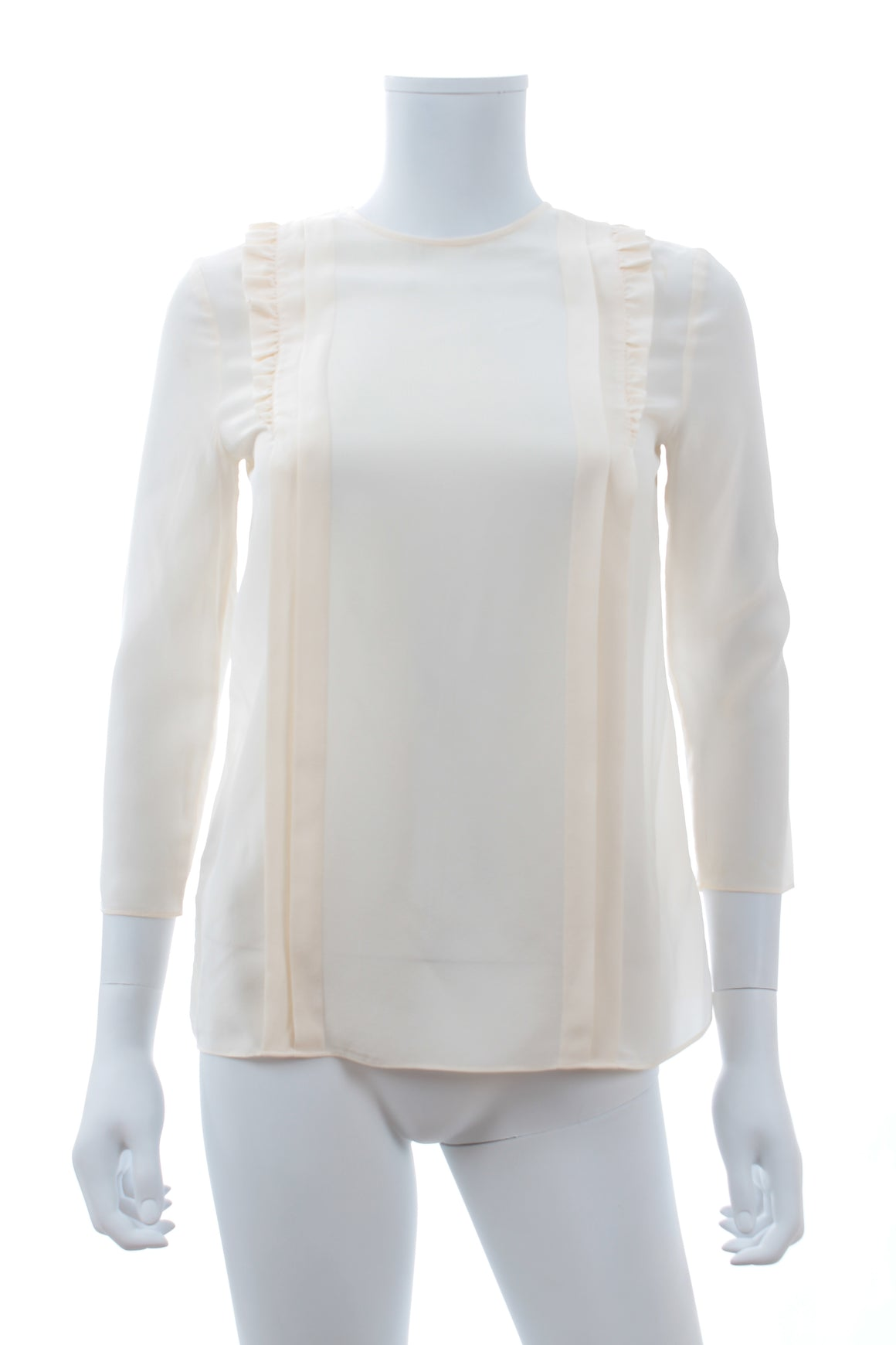 Miu Miu Ruffled Silk Blouse