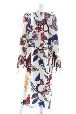 Stine Goya Jacques Floral-Print Crepe Midi Dress