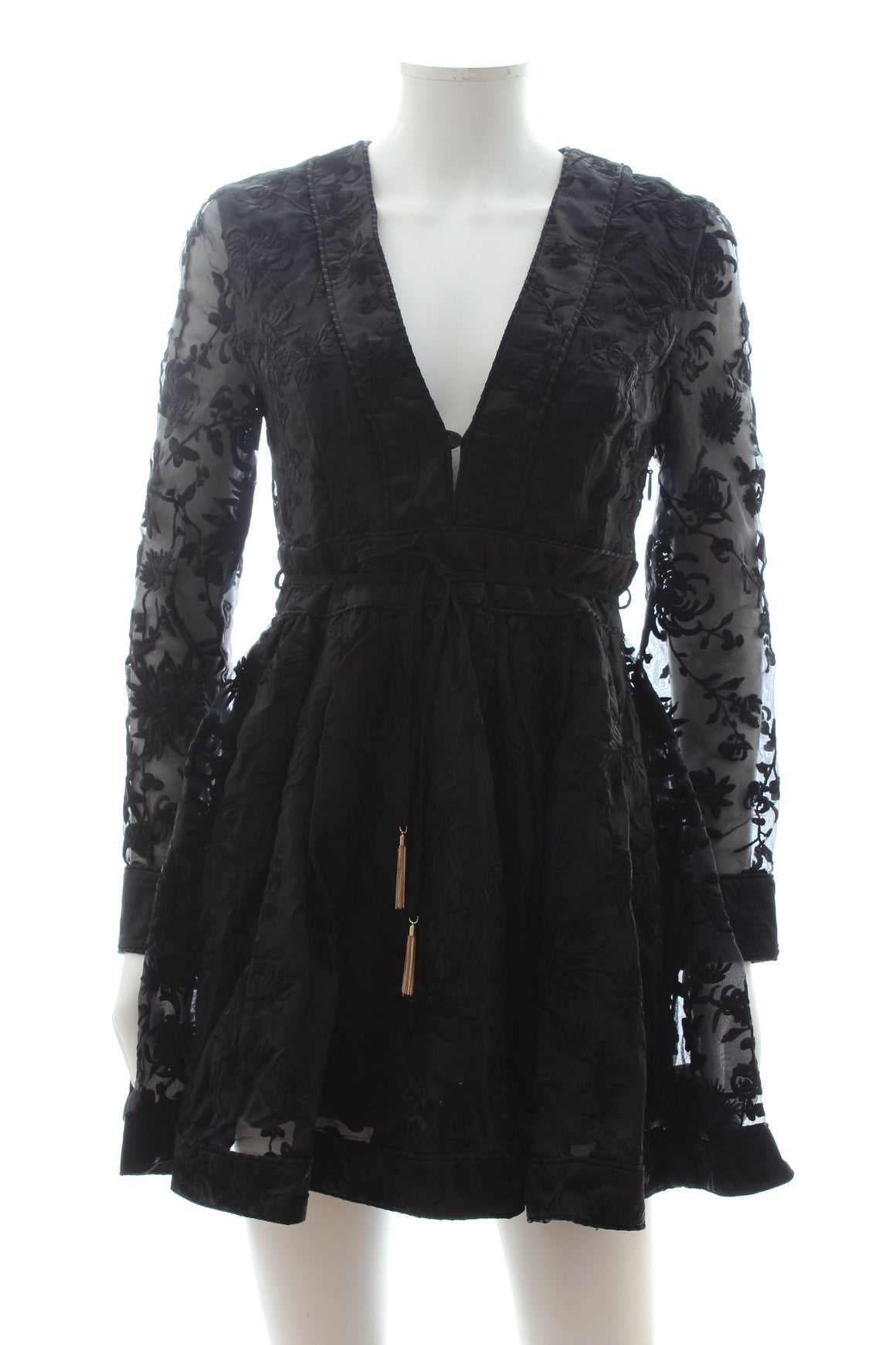 Zimmermann Rife Silk Embroidered Dress