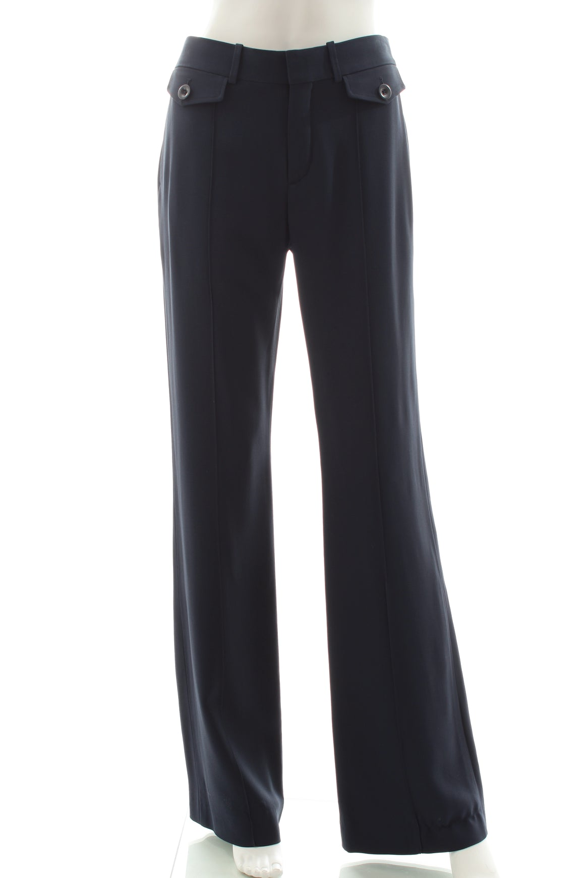 Chloé Mid Rise Flared Cady Trousers