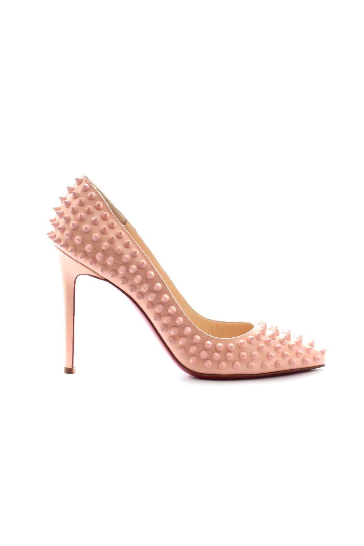 Christian Louboutin Pigalle 100 Spike Patent Leather Pumps