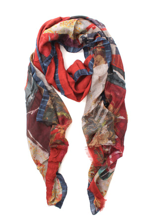 Etro Nuristan Printed Cashmere-Blend Fringed Scarf