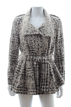 Dior Textured-Knit Belted Jacket