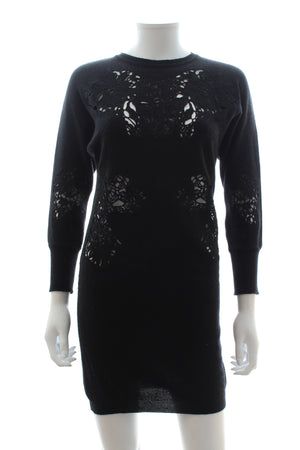Stella McCartney Lace Applique Wool-Cashmere Sweater Tunic